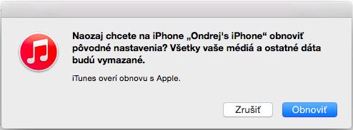 obnova iOS zarizeni
